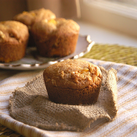 White Chocolate Crunch Mango Muffins
