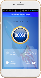 Super RAM booster cleaner - screenshot