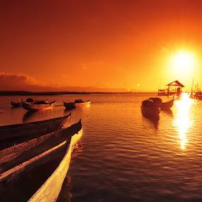 Golden Colour by Ruslan Agule - Landscapes Sunsets & Sunrises ( boat )