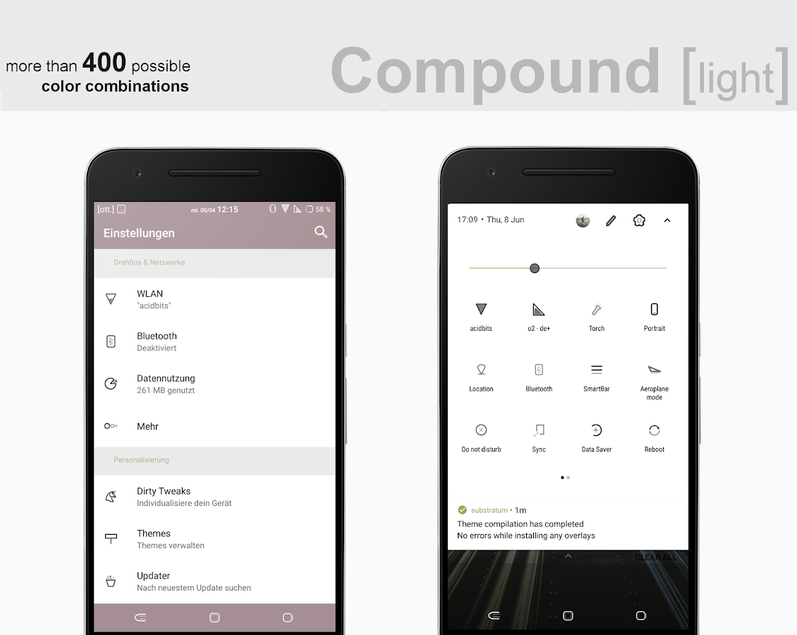 Compound [light] Substratum (Android Oreo/Nougat) Screenshot 1