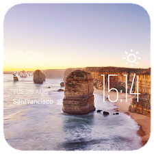 Victoria weather widget/clock