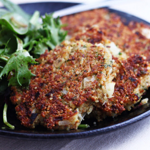 Basil Parmesan Quinoa Cakes (and SF Green Festival)