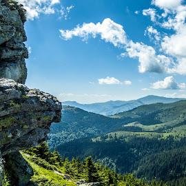 Old mountain by Bane Mitrovic - Landscapes Mountains & Hills ( clouds, mountain, balkan, rock, stara planina, hiking )