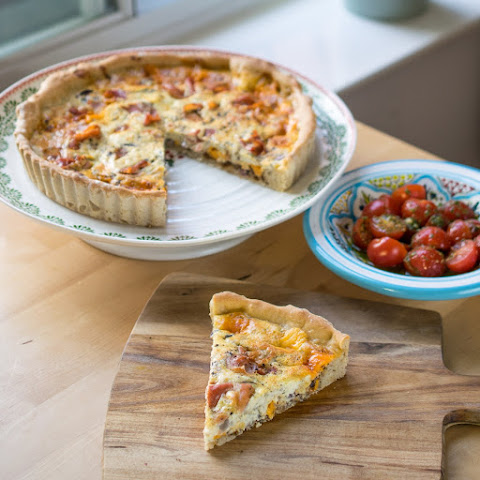 Ham, Cheese & Pickle Quiche
