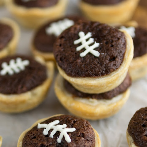Mini Football Brownie Pies