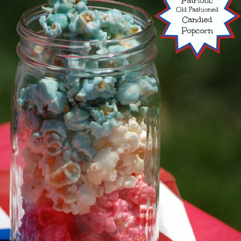 Patriotic Old Fashioned Candied Popcorn