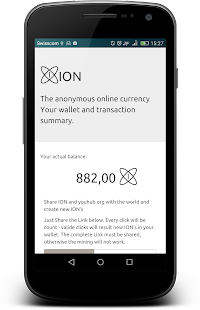 ION wallet - screenshot