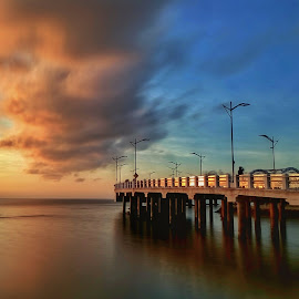 Surabaya Bridge by Bams Cavallera - Instagram & Mobile Android ( #sunset #sunrise #landscape #water #beach )