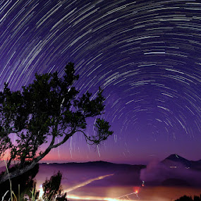 Bromo Startrails by Rudy Harianto - Landscapes Starscapes