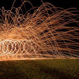 Spirals by Mel Stratton - Abstract Light Painting ( twirling, light, painting, fire, spirals,  )