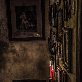 Obscure room by Ana Maria - Novices Only Objects & Still Life ( photos, candle, frame, obscure, darkness, wall )