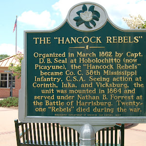 Organized in March 1862 by Capt. D.B. Seal at Hobolochitto (now Picayune), the