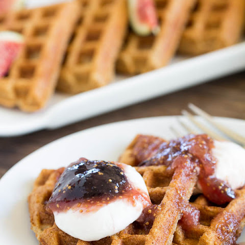 Whole Wheat Waffles with Fig Compote