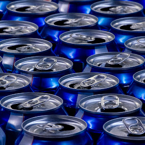 aluminum cans by Keith Cook - Artistic Objects Other Objects ( cans, beer, pattern, blue, aluminum, bud light,  )