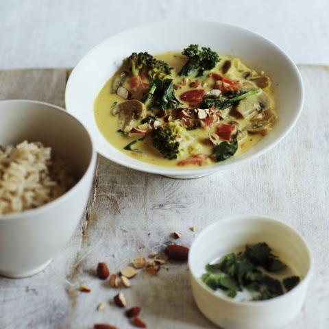Mushroom, Broccoli And Coconut Curry