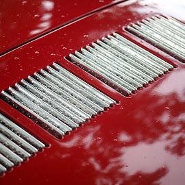 Louvers by Noel Hankamer - Transportation Automobiles ( car, red, chrome, karmann ghia, louvers, transportation )