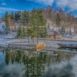 winter on the lake by Eseker RI - Landscapes Mountains & Hills