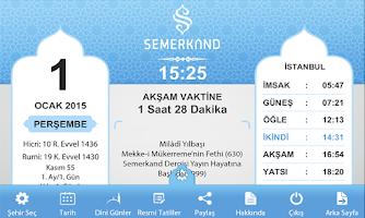 Screenshot of Semerkand Takvimi