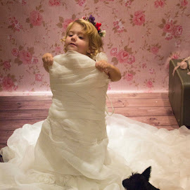 Dreaming by Rene Roux - Wedding Other ( mommy, moment, wedding, wedding dress, toddler )