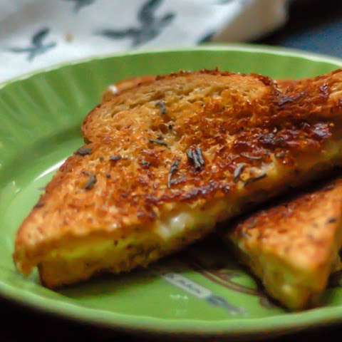 Triple Cream, Cheddar, and Sage Butter Grilled Cheese