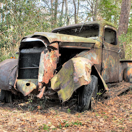 Rusty Memory by DB Channer - Transportation Automobiles ( trucks, truck, rust, antique, abandoned )