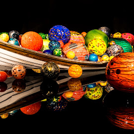 Chihuly Boat by Gary Piazza - Artistic Objects Glass ( glass art, abstract, sony, chihuly, seattle, art, glass, boat )