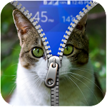 Kitty Zipper Lock Screen APK Image