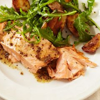 Roasted Salmon and Potatoes with Honey-Mustard Vinaigrette