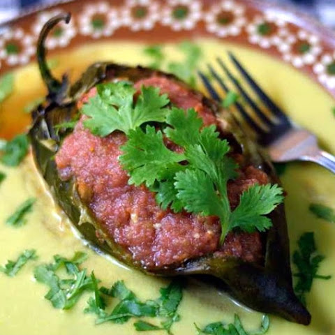 Chicken & Chorizo Chile Rellenos