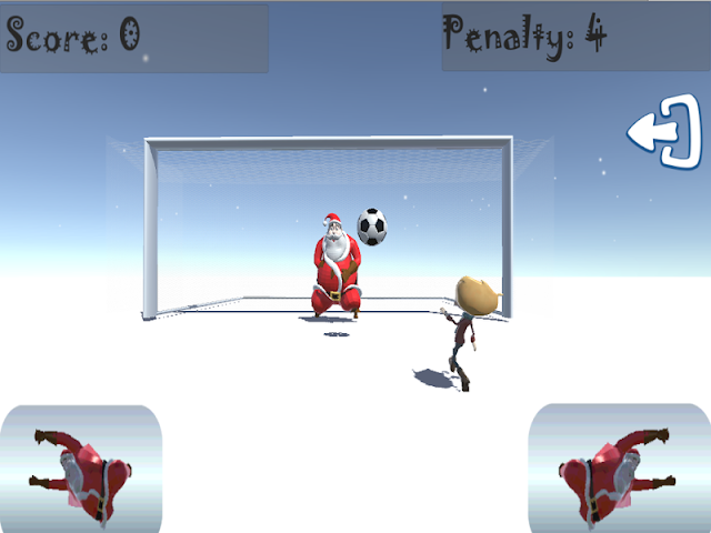 android Santa Goalkeeper Screenshot 1