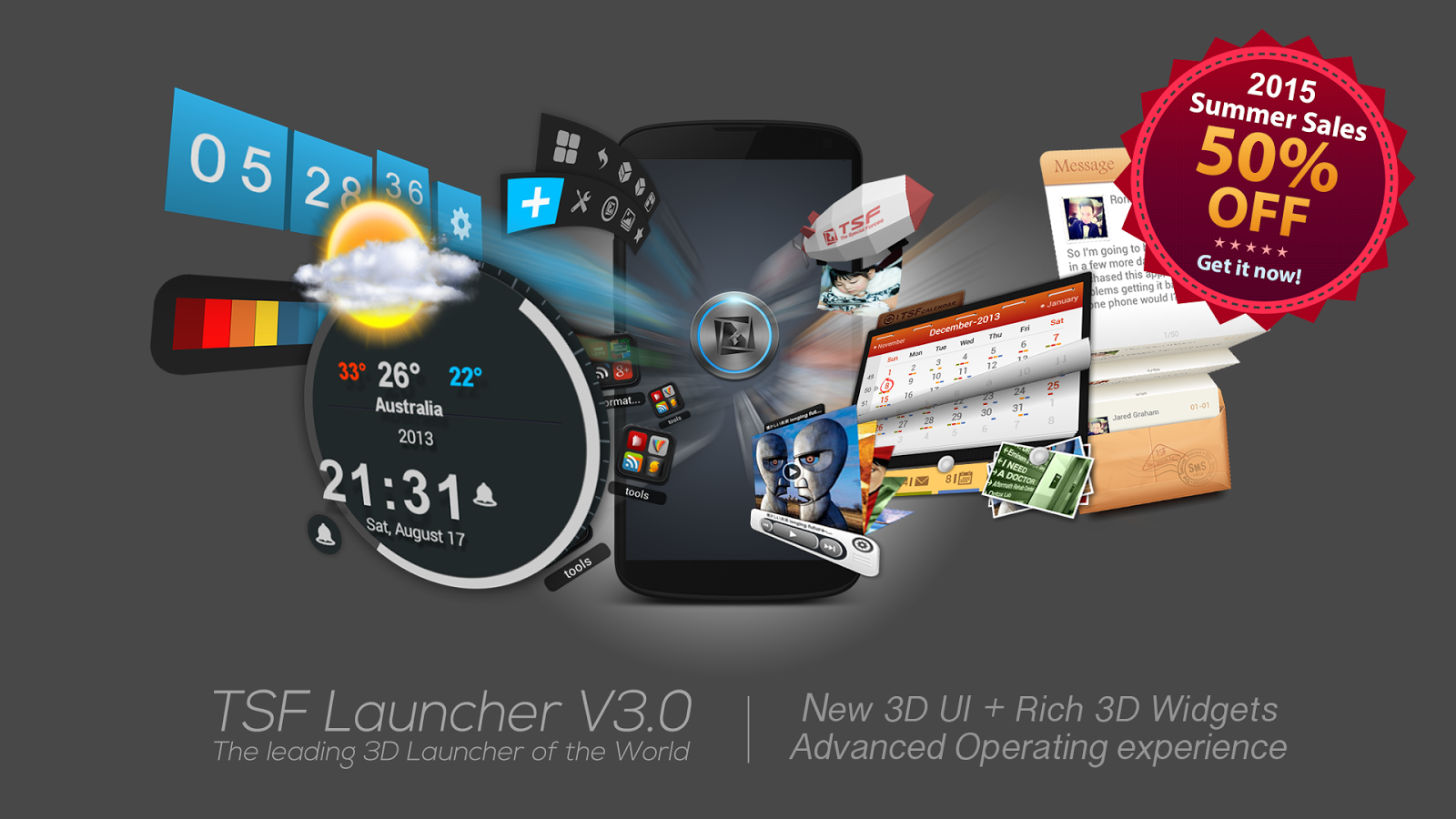 TSF Launcher 3D Shell Screenshot 0