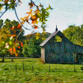 Fayetteville Barn by Allen Crenshaw - Digital Art Things ( barn art photography by allen crenshaw, barn, digital photography by allen crenshaw, barn photography by allen crenshaw, photography )
