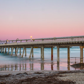 The Spit by Joseph Callaghan - Buildings & Architecture Bridges & Suspended Structures ( goldcoast, pink sky, sunset, australia, wharf )