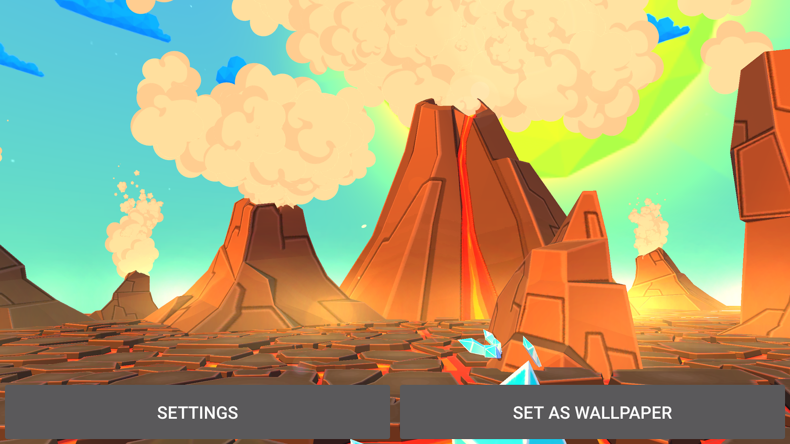 Volcano 3D Live Wallpaper Screenshot 13