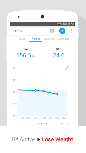 Pedometer, Step Counter & Weight Loss Tracker App screenshot 4
