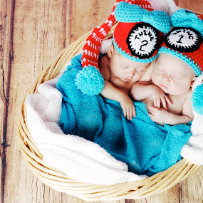 Thing 1, thing 2 by Vanessa Brown - Babies & Children Babies ( girls, thing 1, cute, twins, thing2 )