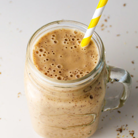 Peanut Butter Banana Smoothie (with Flaxseed Meal)