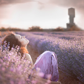 Freedom by Tsvetina Ivanova - People Portraits of Women ( girl, purple, woman, violet, beautiful, beauty, lavender, portrait )