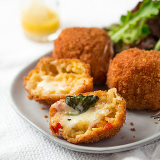 Taleggio And Basil Stuffed Arancini