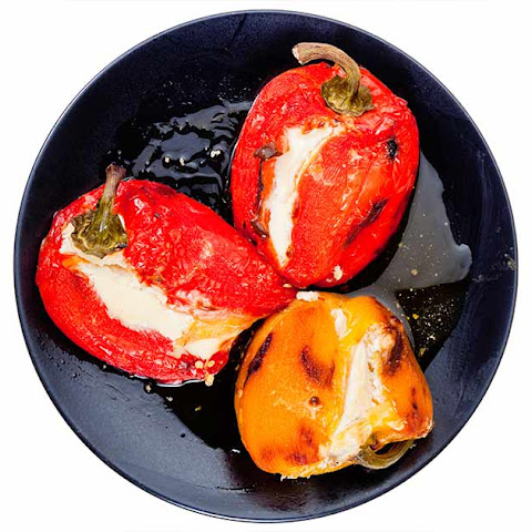 Mini Bell Peppers Stuffed with Goat Cheese