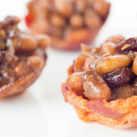 Homemade Baked Beans in Mini Bacon Cups