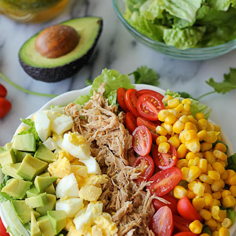 Leftover Pulled Pork Cobb Salad