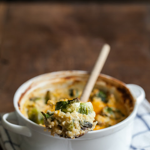Roasted Brussel Sprout and Millet Casserole