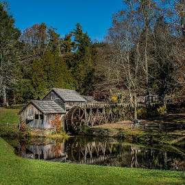 Mabry Mill by Darrin Ralph - Buildings & Architecture Public & Historical ( mill, building, reflection, historical, old building, historic )