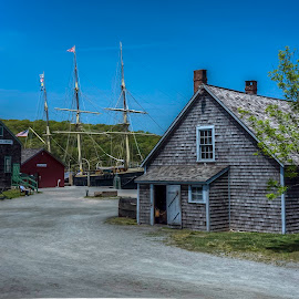 Mystic Seaport by Ken Wagner - City,  Street & Park  Historic Districts ( mystic, seaport, waterscape, museum, historical )