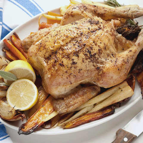 Roast Chicken with Roasted Root Vegetables
