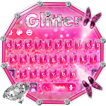 Stylish Shiny pink Glitter Keypad Icon