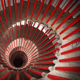 Vertigo by Francisco Cardoso - Abstract Patterns ( stairs, bars, perspective, spiral, deep,  )