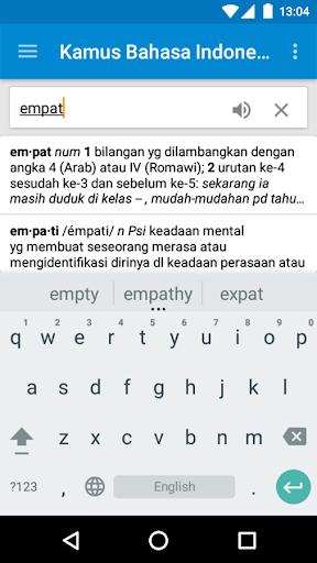 Kamus Bahasa Indonesia screenshot 1