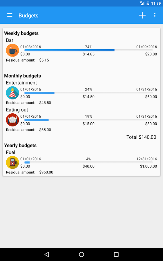 Fast Budget - Expense Manager Screenshot 19